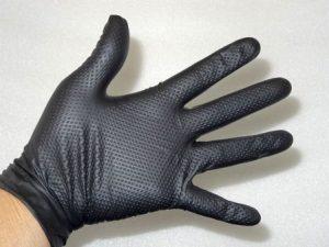メカニックグローブ 5双セット ニトリル ゴム手袋 Mサイズ エステー 整備・機械・園芸に