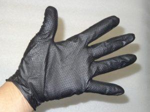 メカニックグローブ 5双セット ニトリル ゴム手袋 Lサイズ エステー 整備・機械・園芸に