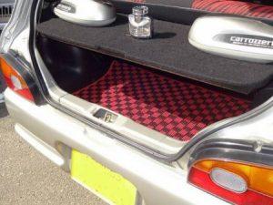 トランクマット カーペット 赤 新品 スバル 3D, 5D セダン KK3/KK4 SUBARU