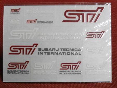 STI ステッカー 転写タイプ STI純正 スバル 小物等に