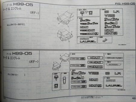 ローレル C32型 主要整備部品カタログ 1994年2月発行