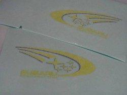 スバル SWRT ステッカー レターマーク 左右セット 小 SUBARU