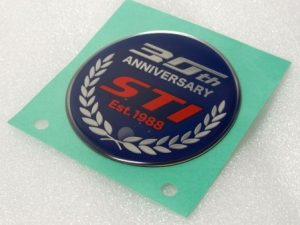 STI 30th ANNIVERSARY オーナメント リア WRX STI TYPE RA-R