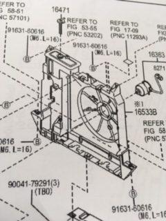 ハイゼットS331V ラジエーターファンシュラウド純正新品 特価!