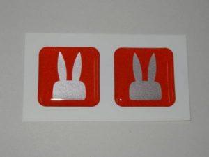 ドアリフレクター 反射板 ウサギ形 スズキ ラパン 流用に