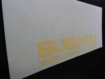 SUBARU WORLD RALLY TEAM ステッカー 1枚入り イエロー 黄色 ヴィヴィオ イ