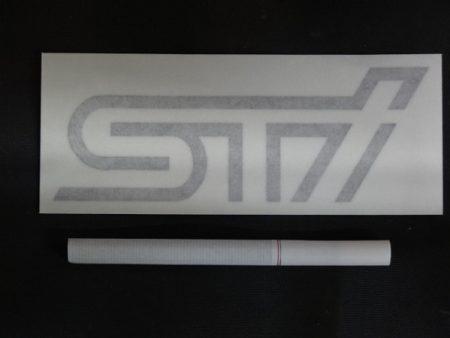 STI 純正 ロゴ ステッカー グレー 1枚入り スバル SUBARU