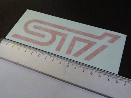 新 STI ロゴステッカー 2枚入り チェリーレッド SUBARU