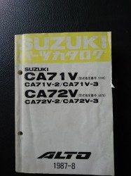 ALTO(アルト) CA71・72V 昭和62年8月発行 5版